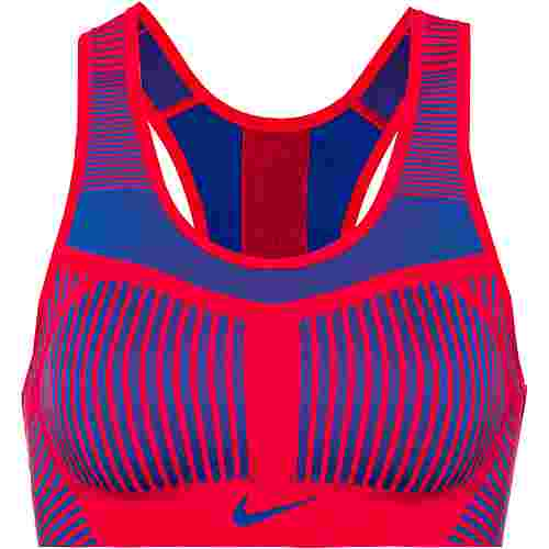 Nike Fenom Flyknit Sport-BH Damen speed red-bright blue