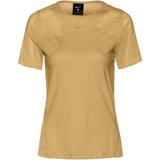 Nike Pro Funktionsshirt Damen club gold-clear