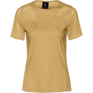 Nike Pro Funktionsshirt Damen club gold-clear