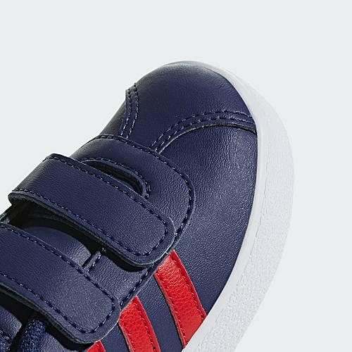 adidas VL Court 2.0 Schuh Sneaker Kinder Blue Active Red Ftwr White im Online Shop von SportScheck kaufen