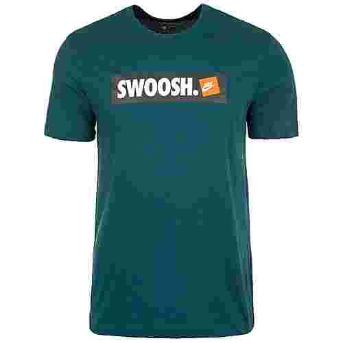 Nike Swoosh T-Shirt Herren petrol / weiß