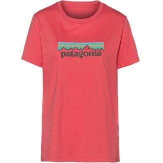 Patagonia Pastel P-6 Logo Organic Crew T-Shirt Damen spiced coral