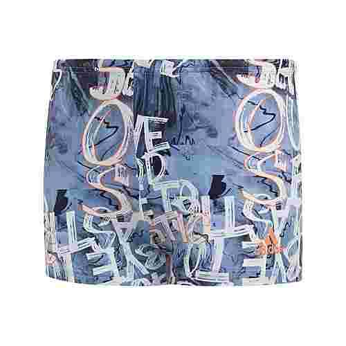 adidas Parley Boxer-Badehose Badehose Kinder Glow Blue / Semi Coral