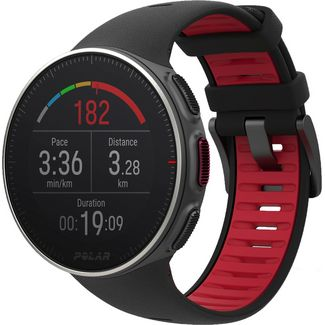 Polar Vantage V Titan Sportuhr black-red