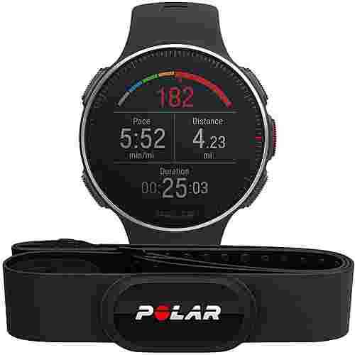 Polar Vantage V Titan HR Sportuhr black-red