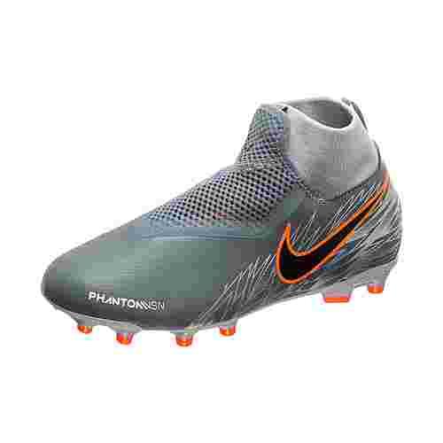 Nike Phantom Vision Academy DF Fußballschuhe Kinder grau / orange