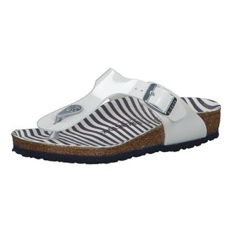 Birkenstock Zehentrenner Nautical Stripes White