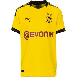 PUMA Borussia Dortmund 19/20 Heim Fußballtrikot Kinder cyber yellow-puma black