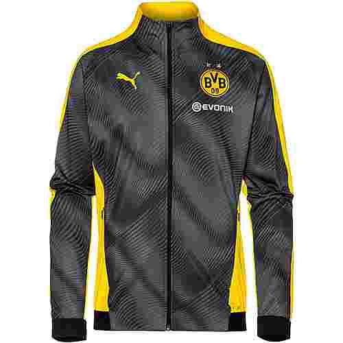 PUMA Borussia Dortmund Trainingsjacke Herren cyber yellow-puma black