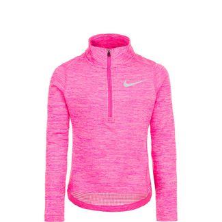 Nike Top Run Half-Zip Laufshirt Kinder pink