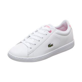 Lacoste Carnaby Evo Sneaker Kinder weiß / rosa