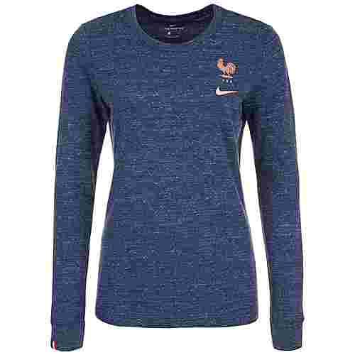 Nike Frankreich FFF Travel Fanshirt Damen dunkelblau