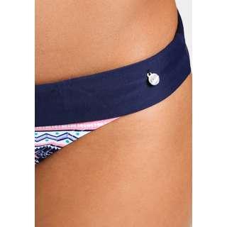 S.OLIVER Bikini Hose Damen blau-rosé-gestreift
