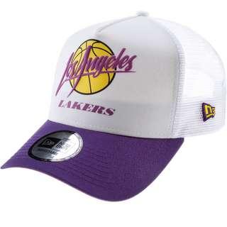 New Era Trucker A-Frame Los Angeles Lakers Cap optic white-open market