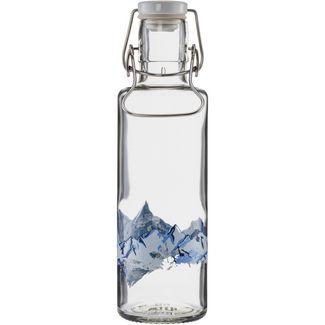 soulbottles Alpenblick Trinkflasche transparent-blau