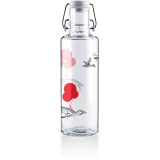 soulbottles Flug der Pinguine Trinkflasche transparent-rot