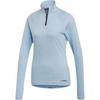 adidas TraceRocker Fleecepullover Damen glow blue
