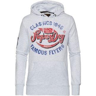 Superdry Famous Flyers Lite Hoodie Herren ice marl