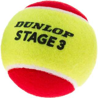 Dunlop STAGE 3 RED 3er Tennisball Kinder gelb-rot