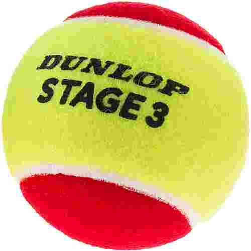 Dunlop STAGE 3 RED 3er Tennisball Kinder gelb-rot