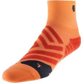 ON Mid Sock Laufsocken Damen coral-navy