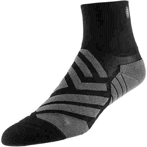ON Mid Sock Laufsocken Damen black-shadow