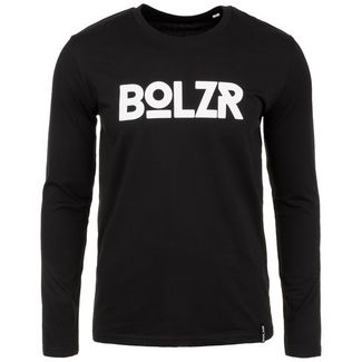 Bolzr Longsleeve Langarmshirt Herren schwarz / weiß