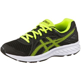 ASICS Jolt 2 Laufschuhe Kinder black-safety-yellow