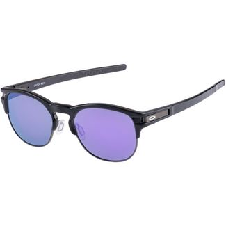 Oakley Latch Key Sonnenbrille POLISHED BLACK with VIOLET IRIDIUM