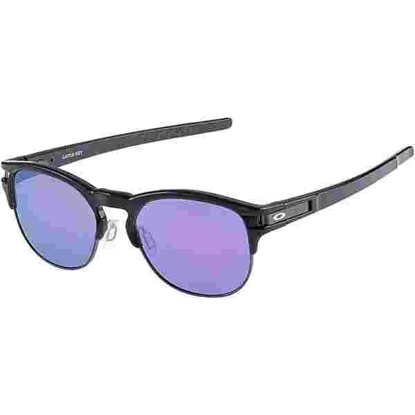 Oakley Latch Key Sonnenbrille POLISHED BLACK with VIOLET IRIDIUM
