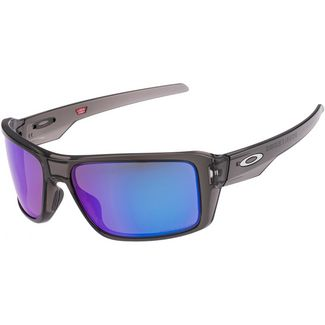 Oakley Double Edge Sportbrille GREY SMOKE with PRIZM SAPPHIRE POLARIZED