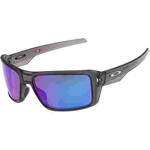 Oakley Double Edge Sportbrille GREY SMOKE with PRIZM SAPPHIRE POLARIZED