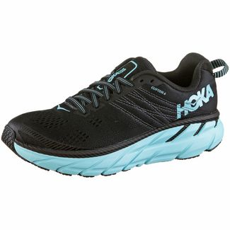 Hoka One One  CLIFTON 6 Laufschuhe Damen black-aqua sky