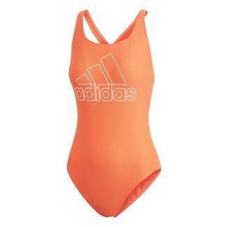 adidas Athly V Logo Badeanzug Badeanzug Damen Hi-Res Coral