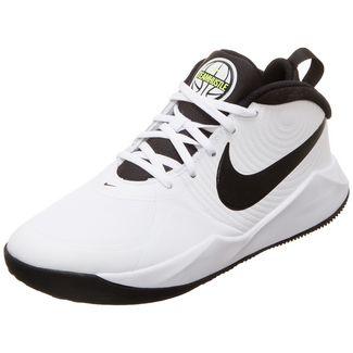 Nike Team Hustle D 9 Basketballschuhe Kinder weiß / neongelb