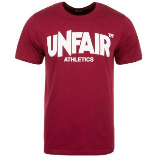 Unfair Athletics Classic Label T-Shirt Herren bordeaux / weiß