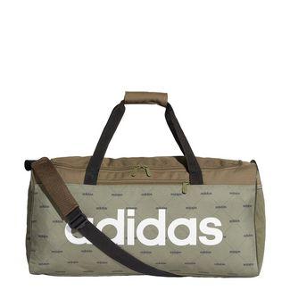 adidas Linear Duffelbag Sporttasche Herren Raw Khaki / Black / White