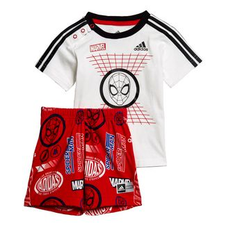 adidas Marvel Spider-Man Sommer-Set Trainingsanzug Kinder White / Black / Scarlet