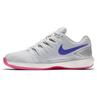 Nike AIR ZOOM PRESTIGE CLY Tennisschuhe Damen pure platinum-racer blue-mtlc platinum