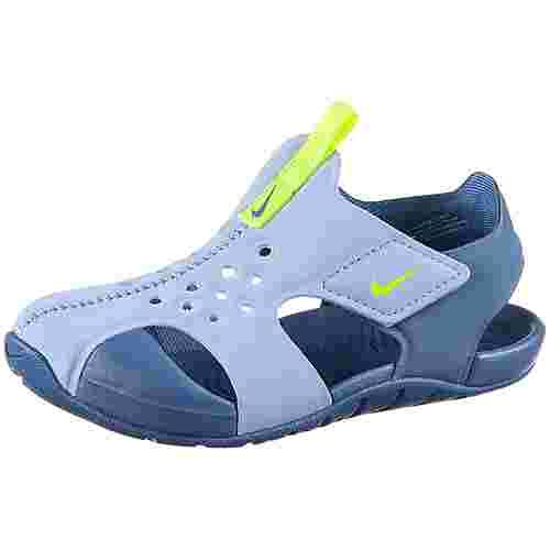 Nike Sunray Badelatschen Kinder aluminum-volt-indigo-storm