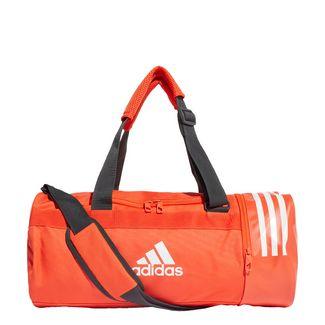 adidas Convertible 3-Streifen Duffelbag S Sporttasche Herren Active Orange / White / White