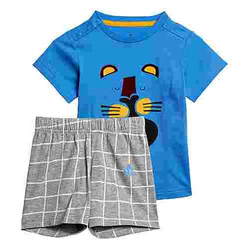 adidas Sommer-Set Trainingsanzug Kinder Blau