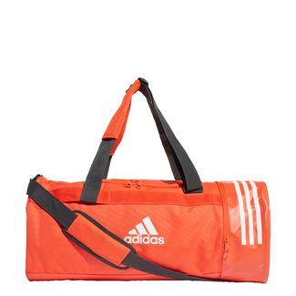 adidas Convertible 3-Streifen Duffelbag M Sporttasche Herren Active Orange / White / White