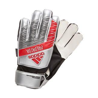 adidas Predator Top Training Fingersave Torwarthandschuhe Kinder silber / rot