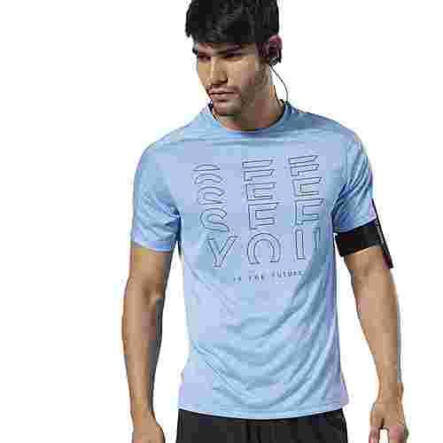 Reebok Running Reflective Move T-Shirt Laufshirt Herren Türkis