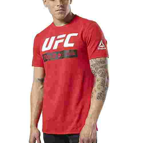 Reebok UFC Fan Gear Fight Week T-Shirt Funktionsshirt Herren Primal Red