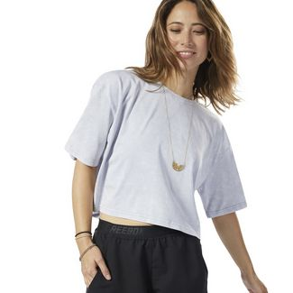 Reebok Studio Washed T-Shirt Funktionsshirt Damen Cold Grey 2