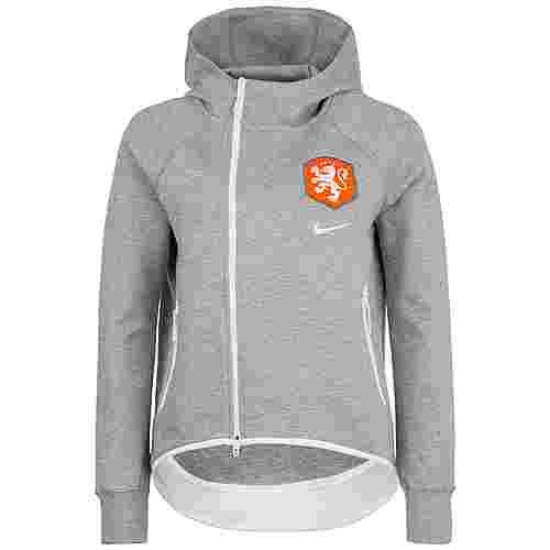 Nike Niederlande Tech Fleece Cape Trainingsjacke Damen grau / orange