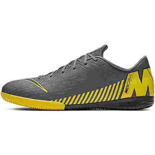 Nike MERCURIAL VAPOR 12 ACADEMY IC Fußballschuhe dk grey-black-opti yellow
