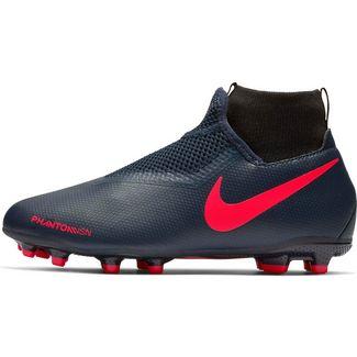 Nike JR PHANTOM VSN ACADEMY DF FG/MG Fußballschuhe Kinder obsidian-black bright crimpson